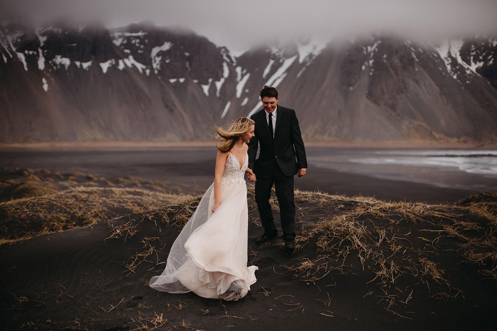 Icelandic Iceland Elopement Wedding Elope Photographer Eloping Reykjavík Vik Black Sand Beach Jökulsárlón Skogafoss Waterfall Vestrahorn Mountain Liz Osban Photography Destination 35.jpg