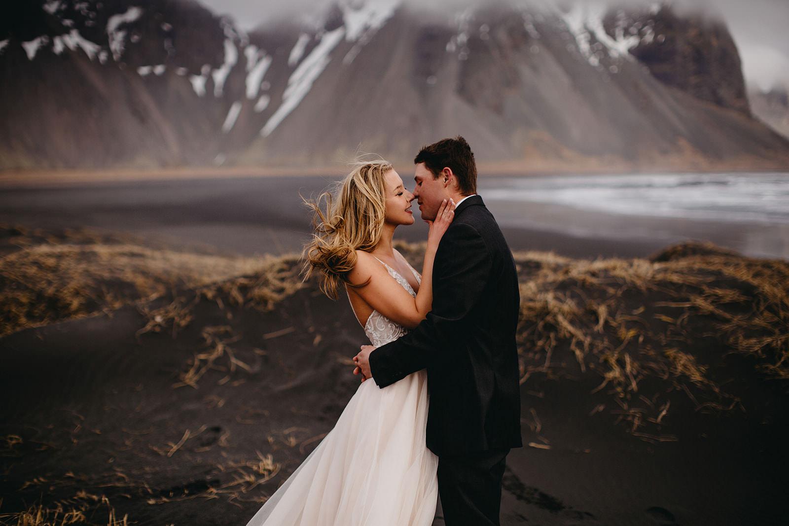 Icelandic Iceland Elopement Wedding Elope Photographer Eloping Reykjavík Vik Black Sand Beach Jökulsárlón Skogafoss Waterfall Vestrahorn Mountain Liz Osban Photography Destination 37.jpg