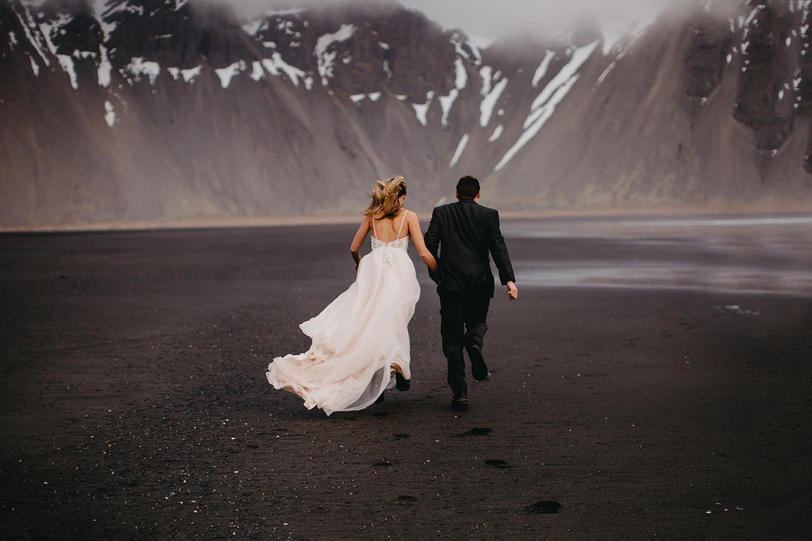 Icelandic Iceland Elopement Wedding Elope Photographer Eloping Reykjavík Vik Black Sand Beach Jökulsárlón Skogafoss Waterfall Vestrahorn Mountain Liz Osban Photography Destination 38.jpg