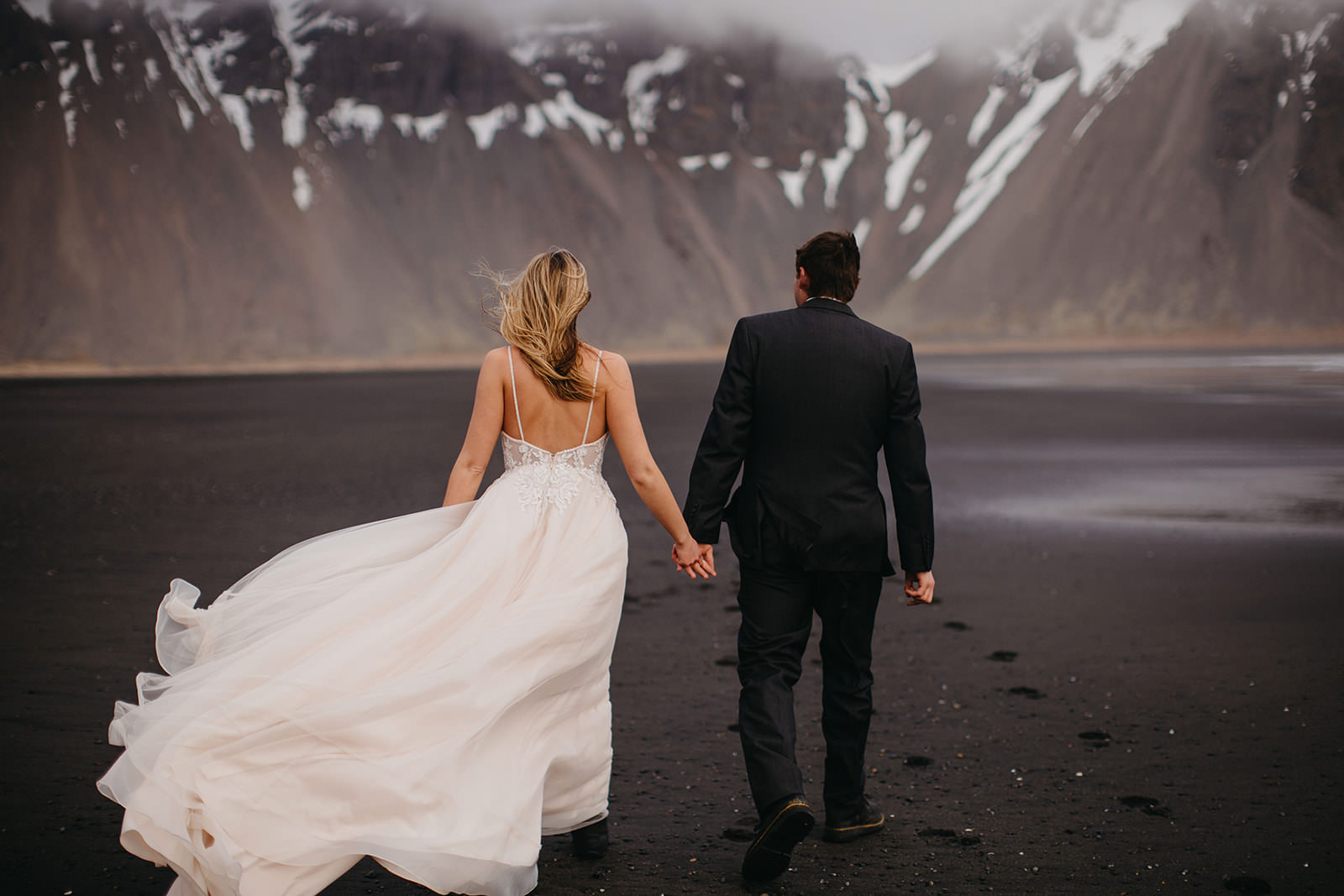 Icelandic Iceland Elopement Wedding Elope Photographer Eloping Reykjavík Vik Black Sand Beach Jökulsárlón Skogafoss Waterfall Vestrahorn Mountain Liz Osban Photography Destination 40.jpg