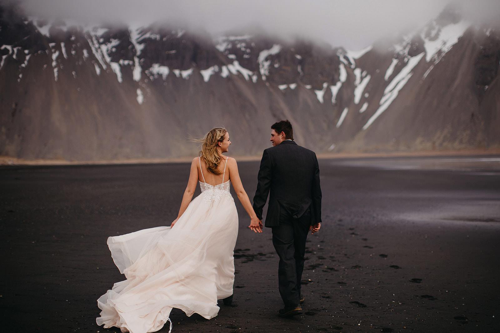 Icelandic Iceland Elopement Wedding Elope Photographer Eloping Reykjavík Vik Black Sand Beach Jökulsárlón Skogafoss Waterfall Vestrahorn Mountain Liz Osban Photography Destination 41.jpg