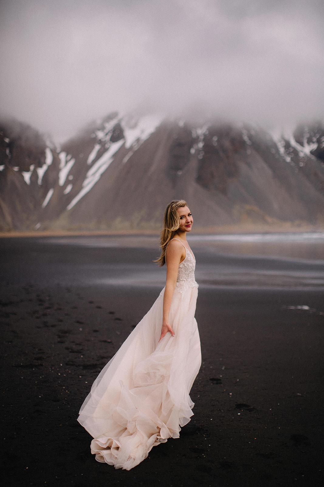 Icelandic Iceland Elopement Wedding Elope Photographer Eloping Reykjavík Vik Black Sand Beach Jökulsárlón Skogafoss Waterfall Vestrahorn Mountain Liz Osban Photography Destination 42.jpg
