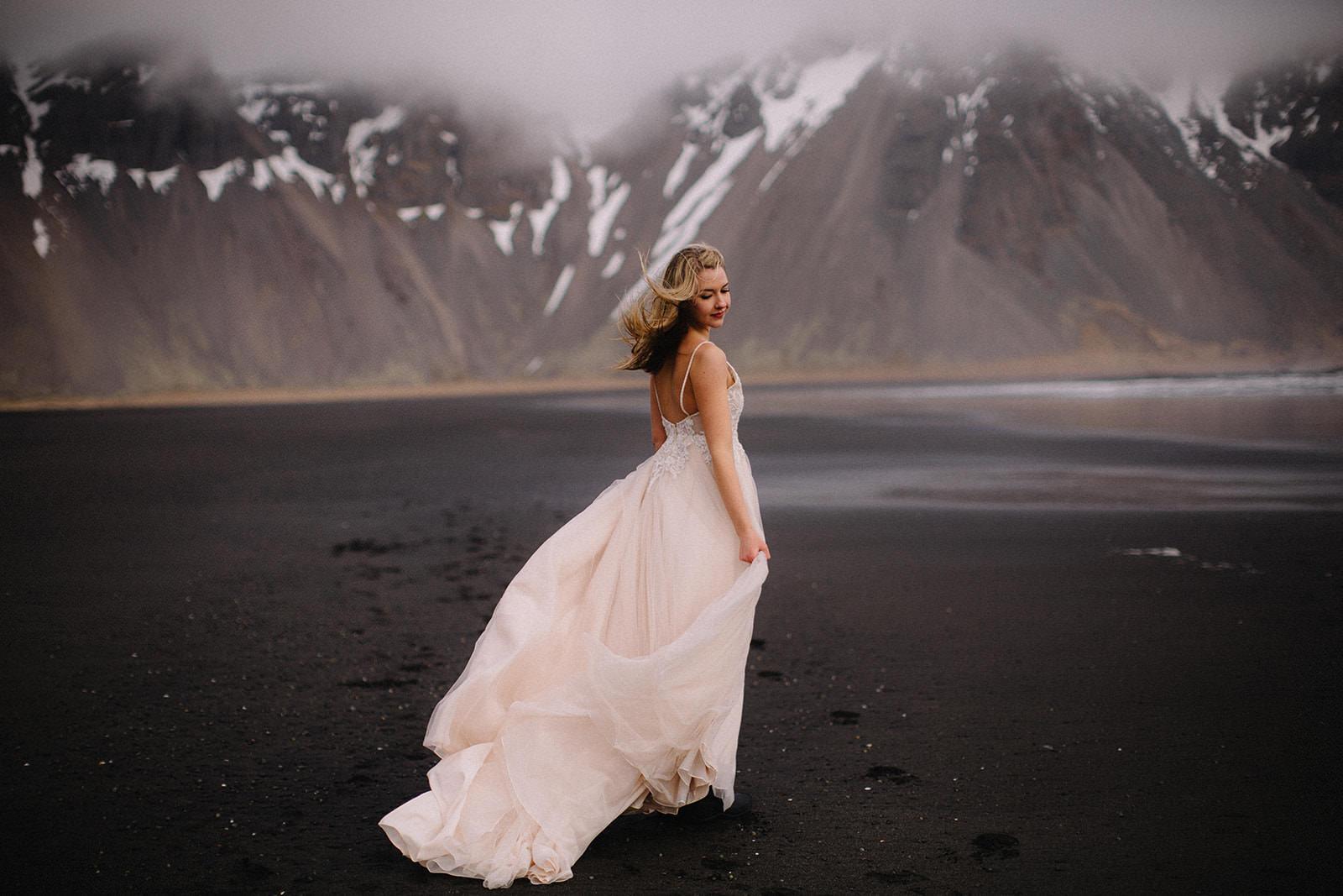 Icelandic Iceland Elopement Wedding Elope Photographer Eloping Reykjavík Vik Black Sand Beach Jökulsárlón Skogafoss Waterfall Vestrahorn Mountain Liz Osban Photography Destination 43.jpg