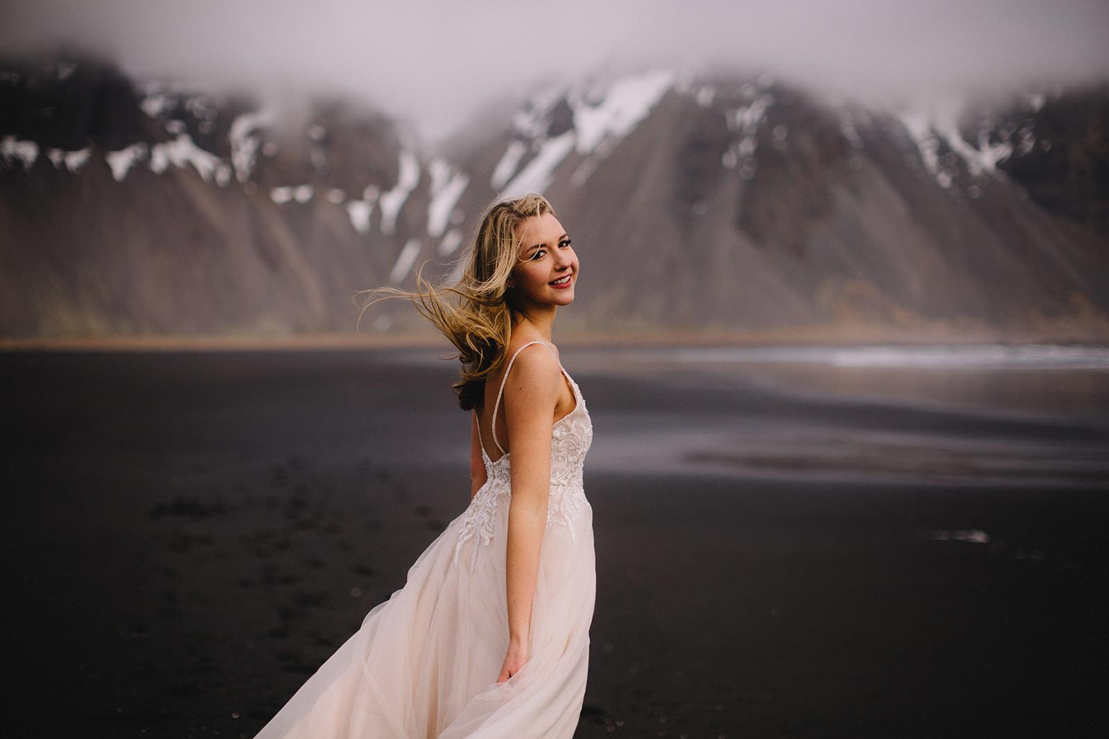 Icelandic Iceland Elopement Wedding Elope Photographer Eloping Reykjavík Vik Black Sand Beach Jökulsárlón Skogafoss Waterfall Vestrahorn Mountain Liz Osban Photography Destination 44.jpg