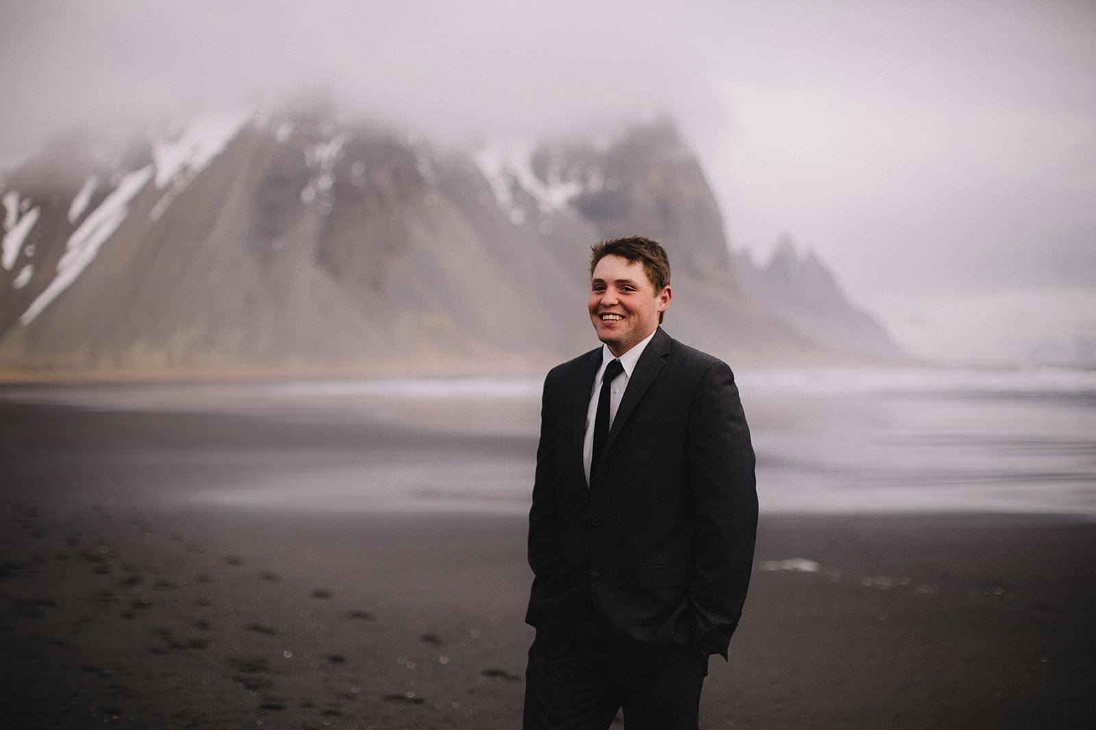 Icelandic Iceland Elopement Wedding Elope Photographer Eloping Reykjavík Vik Black Sand Beach Jökulsárlón Skogafoss Waterfall Vestrahorn Mountain Liz Osban Photography Destination 45.jpg