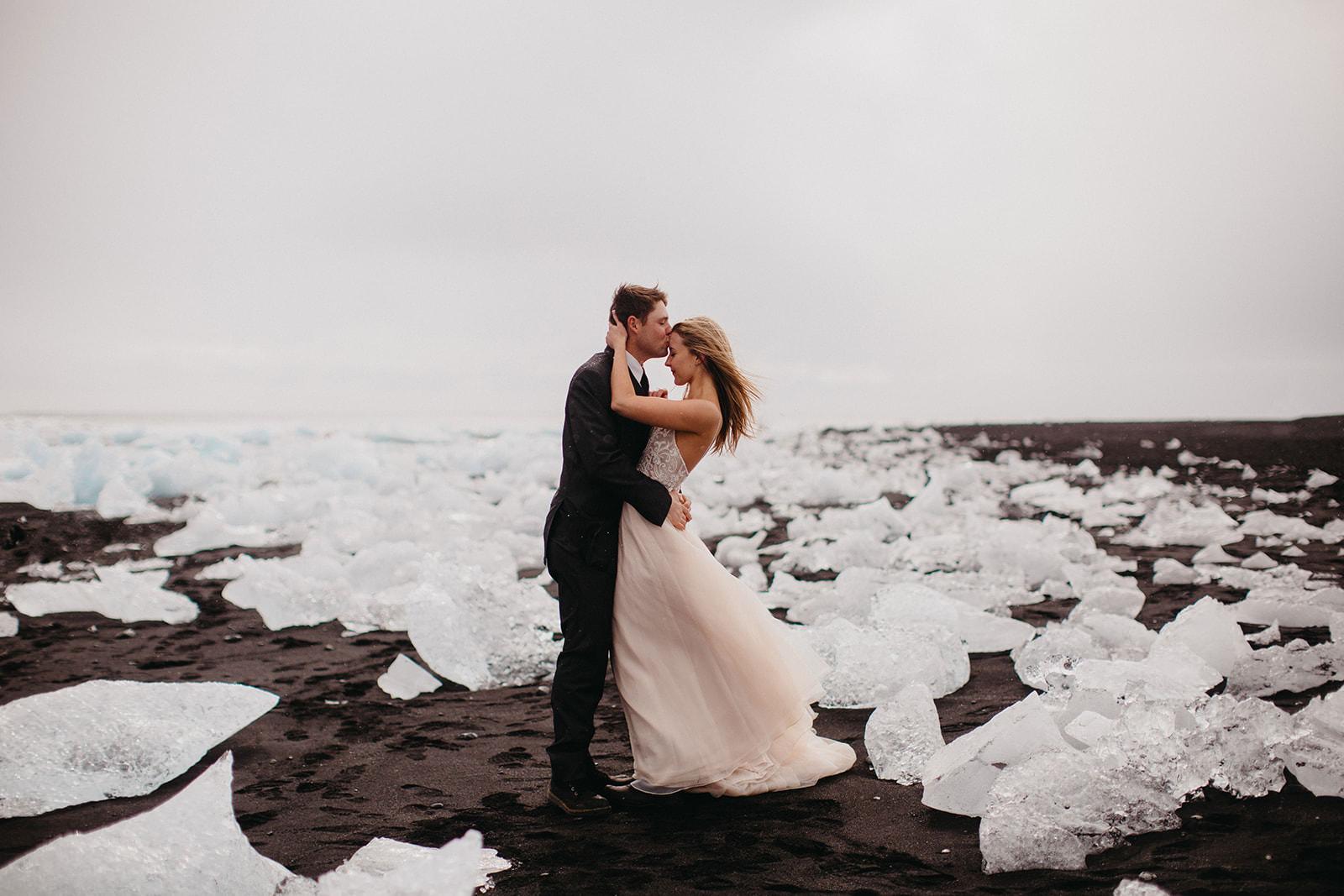 Icelandic Iceland Elopement Wedding Elope Photographer Eloping Reykjavík Vik Black Sand Beach Jökulsárlón Skogafoss Waterfall Vestrahorn Mountain Liz Osban Photography Destination 55.jpg