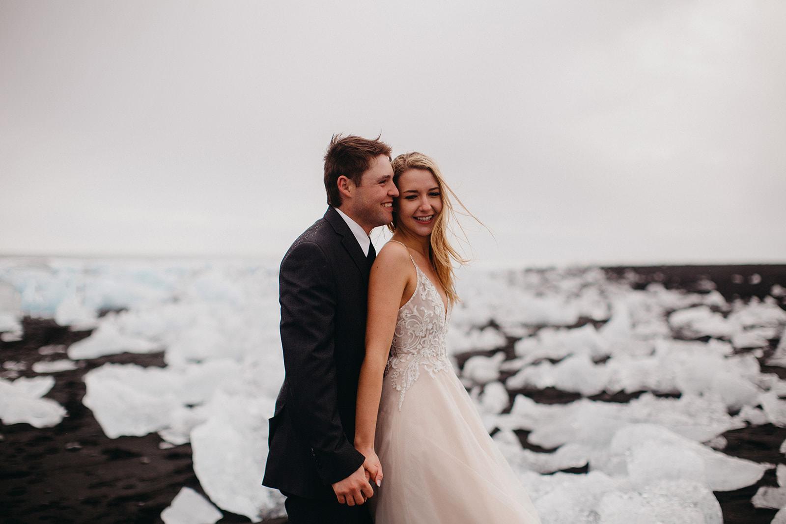 Icelandic Iceland Elopement Wedding Elope Photographer Eloping Reykjavík Vik Black Sand Beach Jökulsárlón Skogafoss Waterfall Vestrahorn Mountain Liz Osban Photography Destination 56.jpg