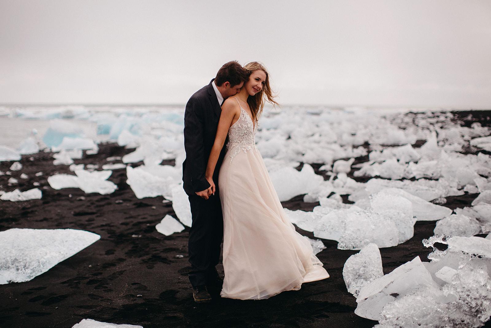 Icelandic Iceland Elopement Wedding Elope Photographer Eloping Reykjavík Vik Black Sand Beach Jökulsárlón Skogafoss Waterfall Vestrahorn Mountain Liz Osban Photography Destination 57.jpg