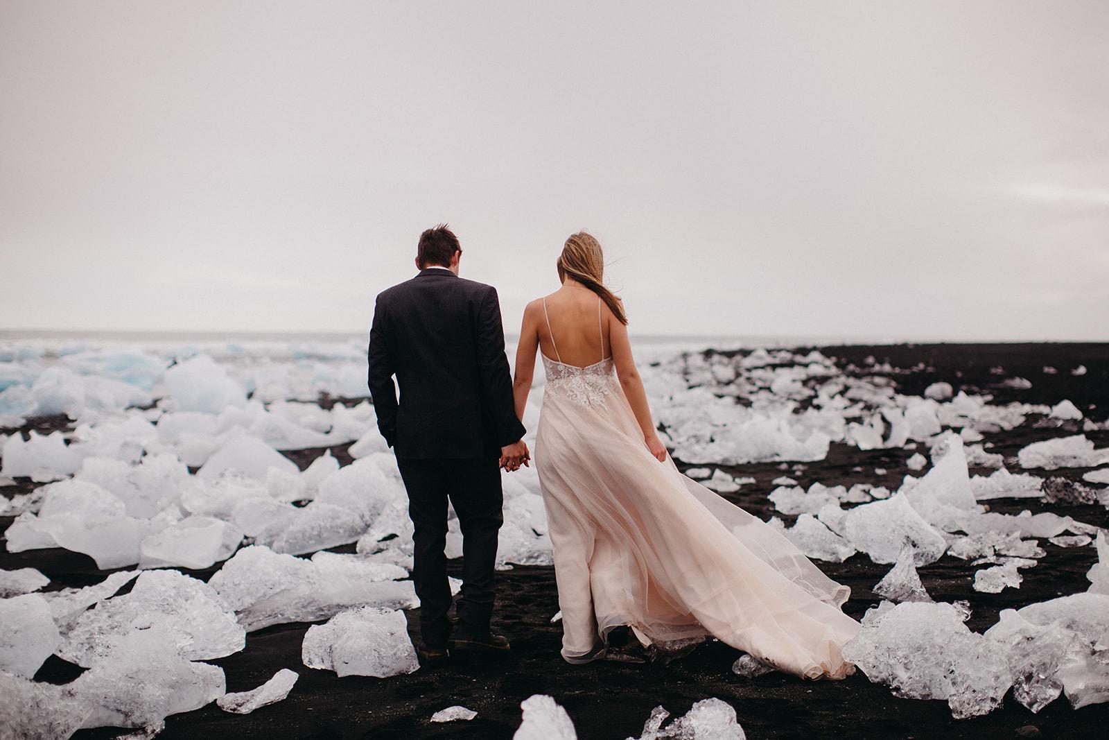 Icelandic Iceland Elopement Wedding Elope Photographer Eloping Reykjavík Vik Black Sand Beach Jökulsárlón Skogafoss Waterfall Vestrahorn Mountain Liz Osban Photography Destination 58.jpg