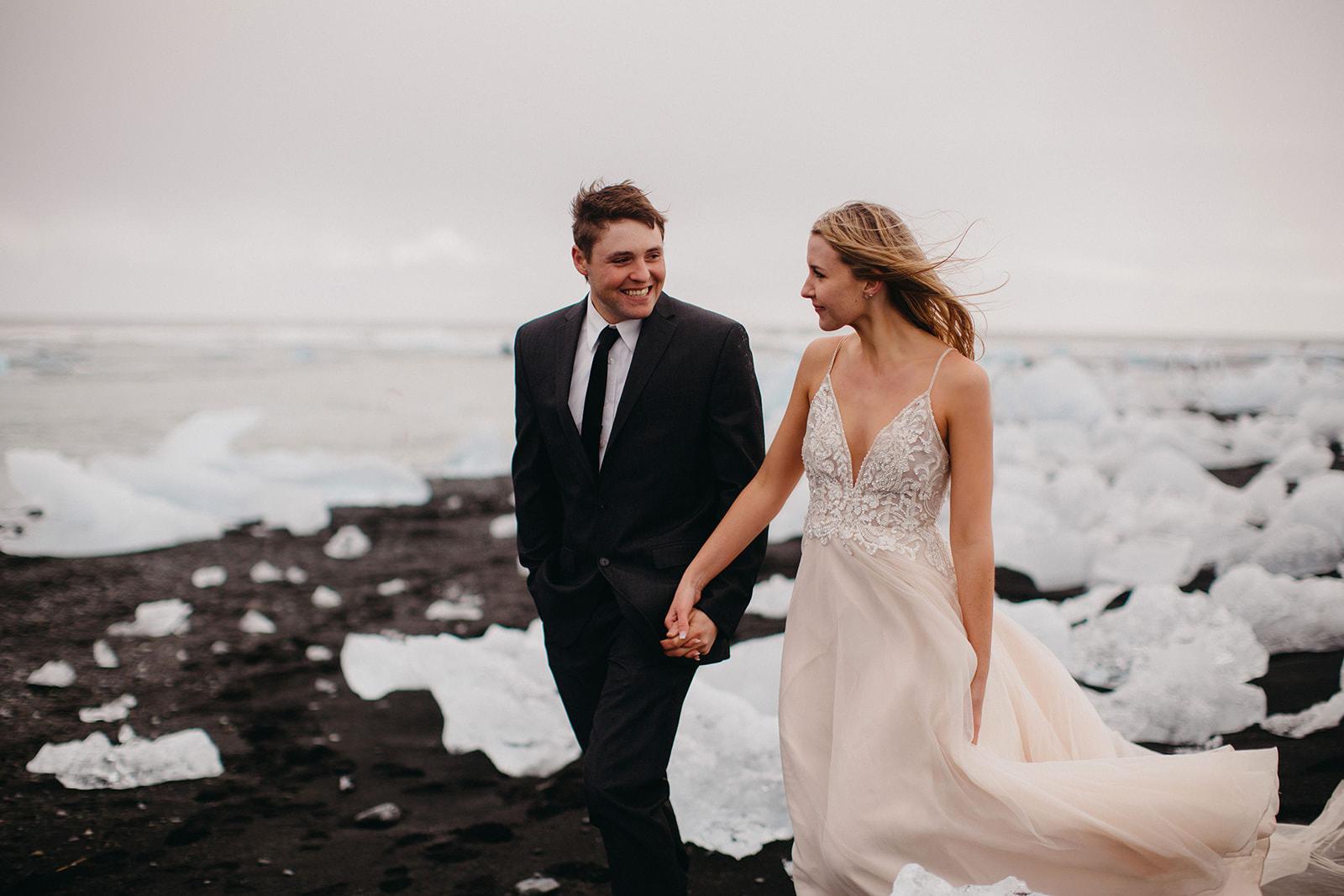 Icelandic Iceland Elopement Wedding Elope Photographer Eloping Reykjavík Vik Black Sand Beach Jökulsárlón Skogafoss Waterfall Vestrahorn Mountain Liz Osban Photography Destination 59.jpg