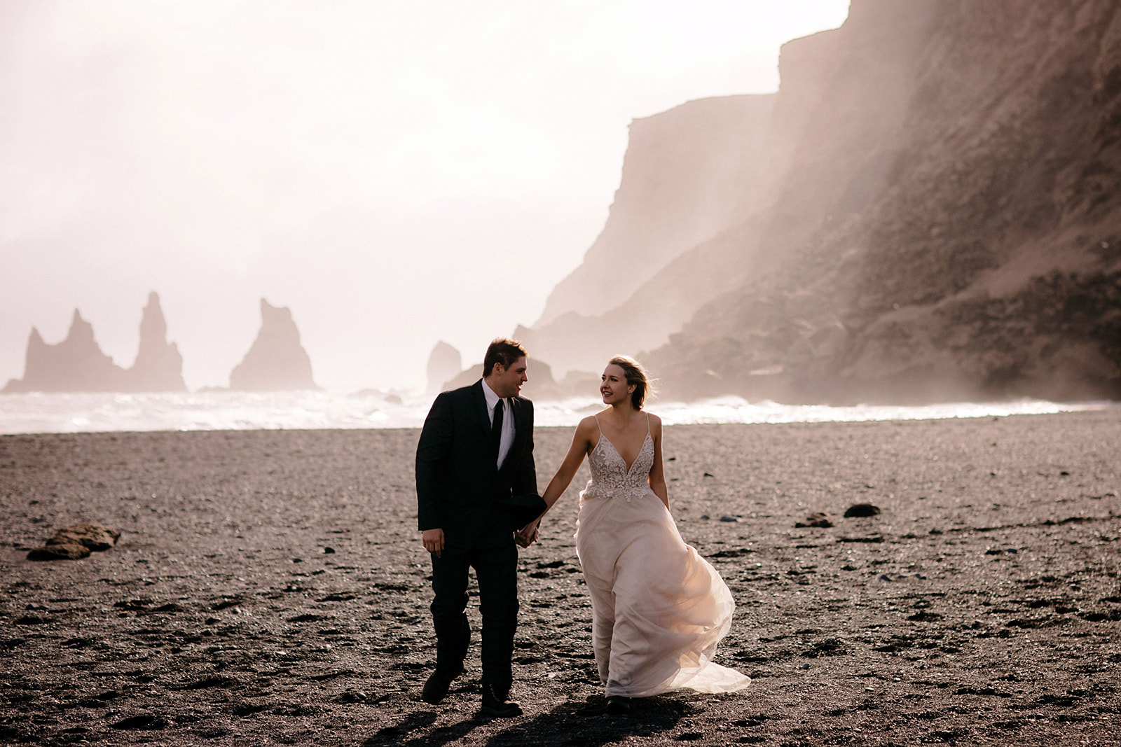 Icelandic Iceland Elopement Wedding Elope Photographer Eloping Reykjavík Vik Black Sand Beach Jökulsárlón Skogafoss Waterfall Vestrahorn Mountain Liz Osban Photography Destination 73.jpg