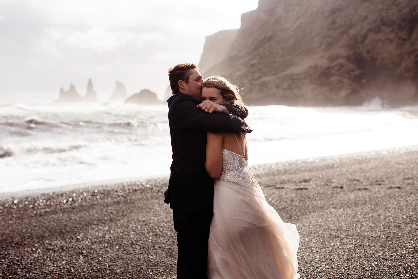 Icelandic Iceland Elopement Wedding Elope Photographer Eloping Reykjavík Vik Black Sand Beach Jökulsárlón Skogafoss Waterfall Vestrahorn Mountain Liz Osban Photography Destination 74.jpg