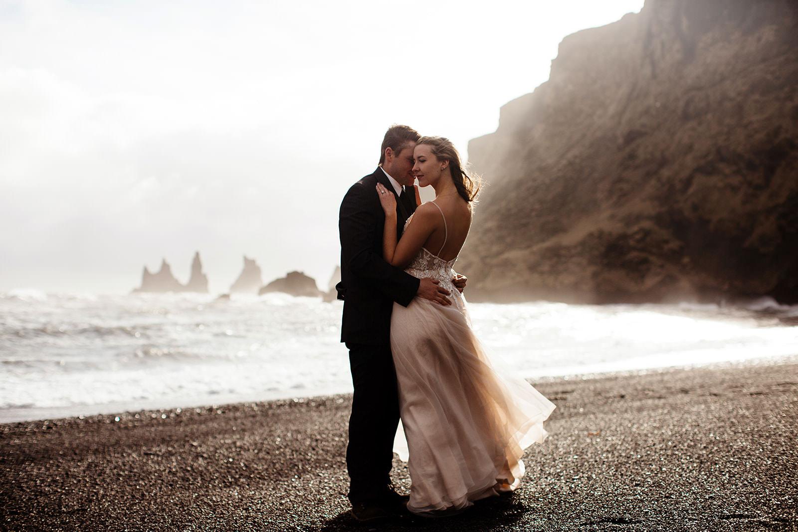 Icelandic Iceland Elopement Wedding Elope Photographer Eloping Reykjavík Vik Black Sand Beach Jökulsárlón Skogafoss Waterfall Vestrahorn Mountain Liz Osban Photography Destination 76.jpg