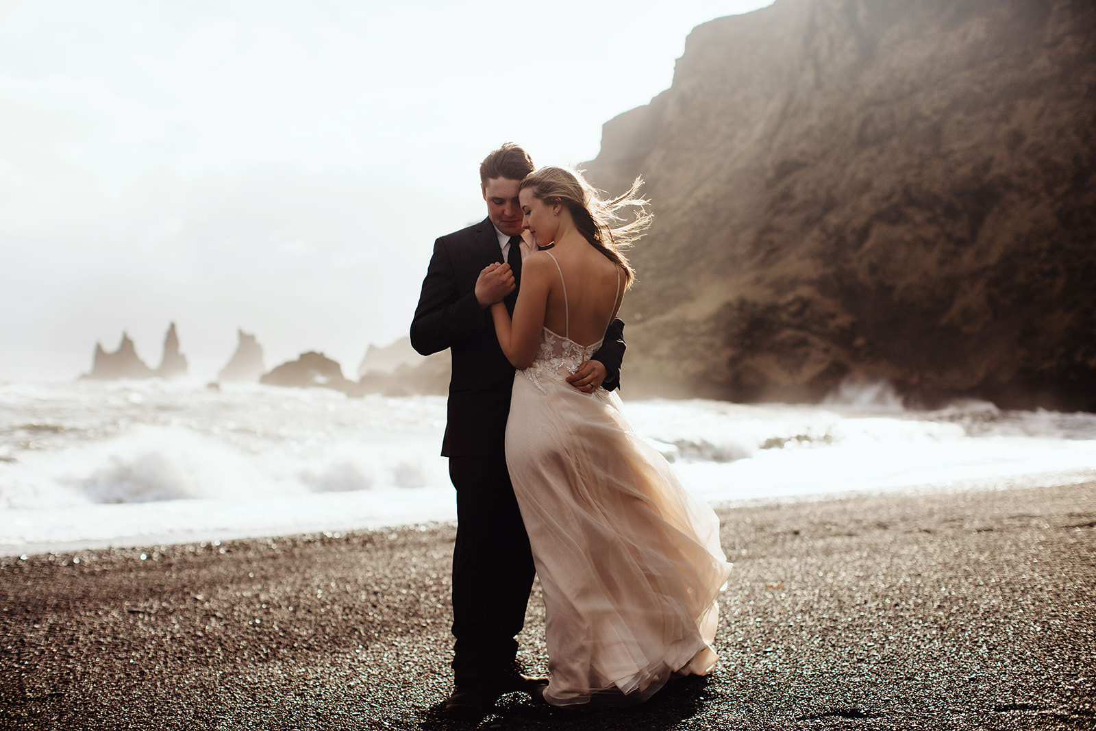 Icelandic Iceland Elopement Wedding Elope Photographer Eloping Reykjavík Vik Black Sand Beach Jökulsárlón Skogafoss Waterfall Vestrahorn Mountain Liz Osban Photography Destination 77.jpg