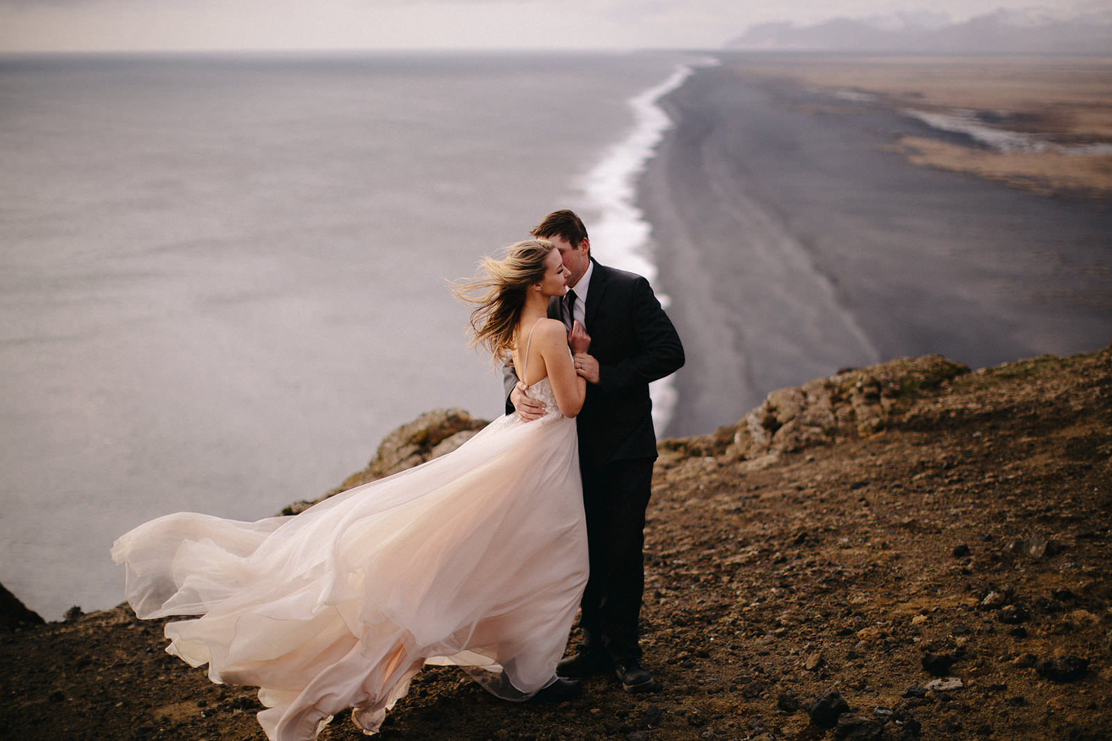 Icelandic Iceland Elopement Wedding Elope Photographer Eloping Reykjavík Vik Black Sand Beach Jökulsárlón Skogafoss Waterfall Vestrahorn Mountain Liz Osban Photography Destination 82.jpg
