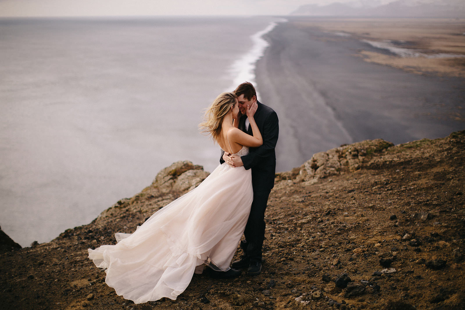 Icelandic Iceland Elopement Wedding Elope Photographer Eloping Reykjavík Vik Black Sand Beach Jökulsárlón Skogafoss Waterfall Vestrahorn Mountain Liz Osban Photography Destination 83.jpg