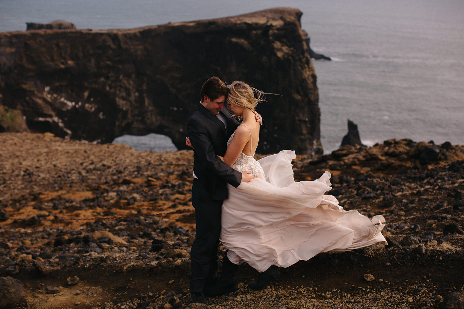 Icelandic Iceland Elopement Wedding Elope Photographer Eloping Reykjavík Vik Black Sand Beach Jökulsárlón Skogafoss Waterfall Vestrahorn Mountain Liz Osban Photography Destination 86.jpg