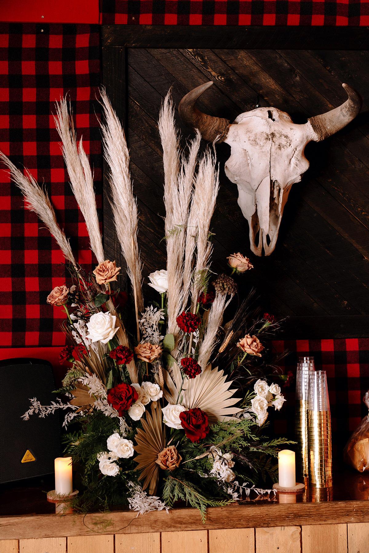 Estes Park Wedding Photographer Saint Catherine's Chapel on the Rock Avril Gown Florist Rocky Mountain National Park Denver Colorado Elopement Winter Wedding Allenspark Liz Osban Photography Destination Denver Wyoming Snowy Rue De Seine Boho