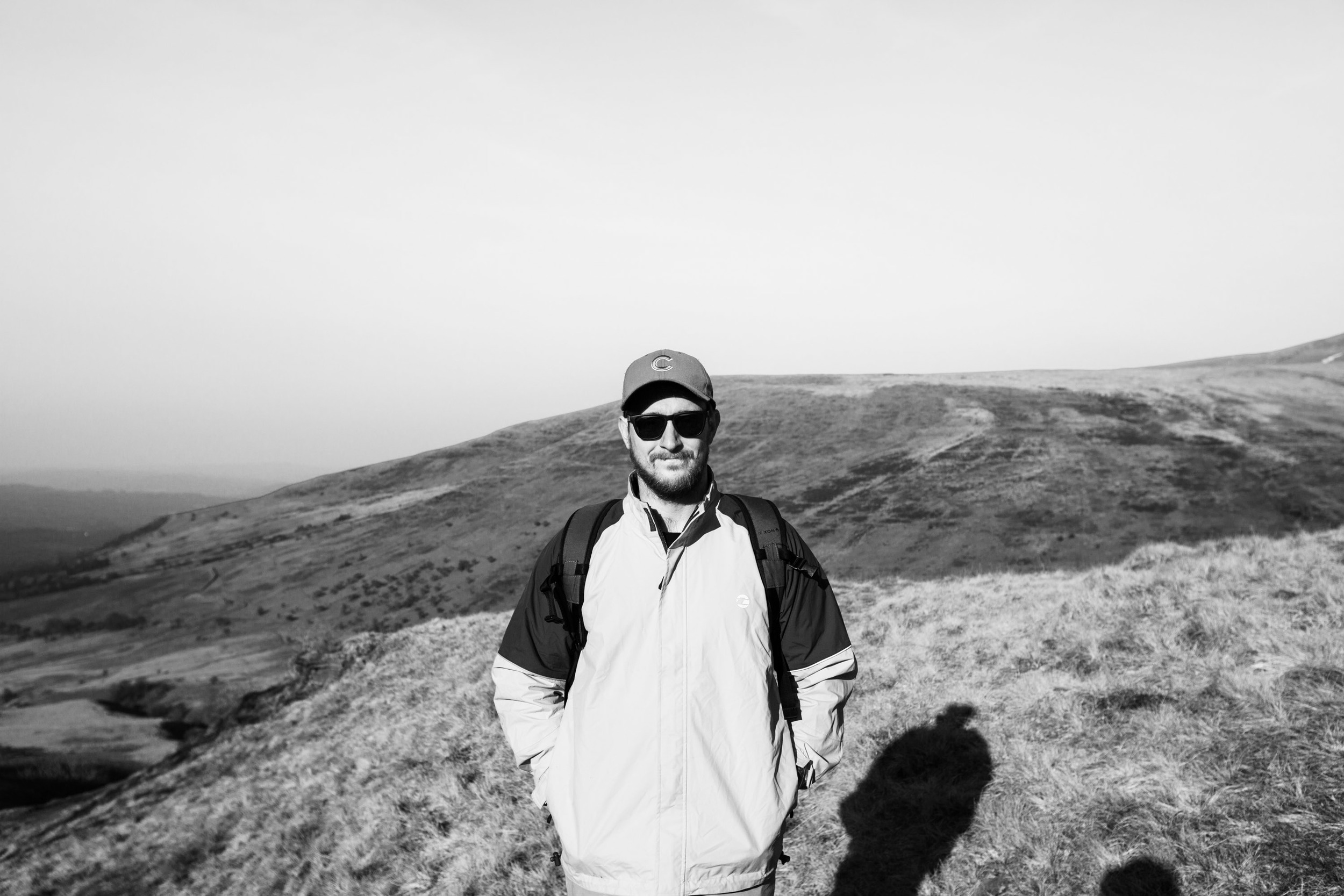 This is me up a mountain, doing a bit of research for a planned shoot.