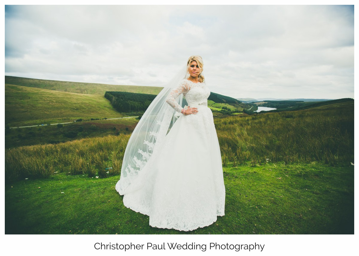 Christopher Paul Cardiff Wedding Photographers Do You Believe Bridal Brecon Styled shoot ideas Brecon Landscape