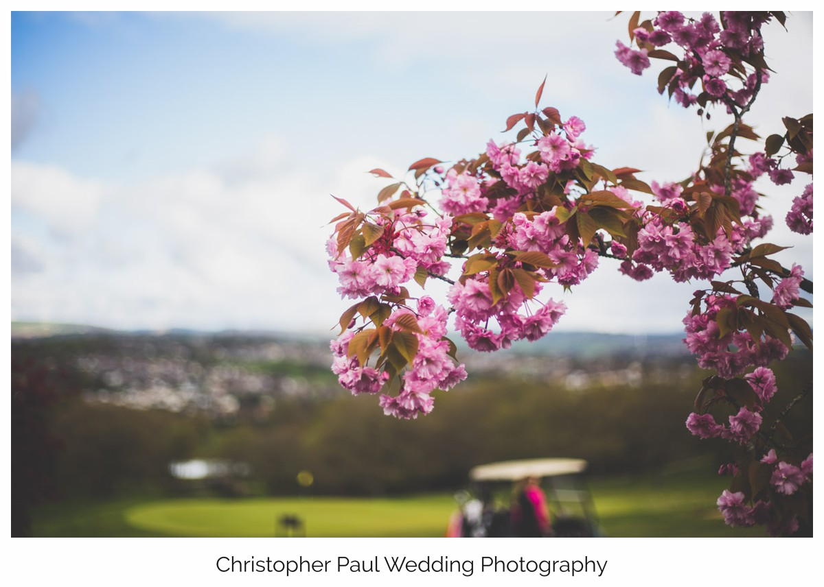 Beutiful Flowers at this Welsh Wedding
