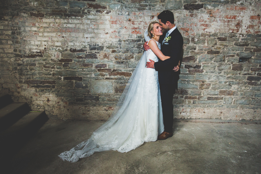 The happily just married couple at the Orangery Margam