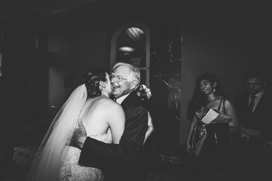 Beautiful moments between the bride and family at Bristol Registry office