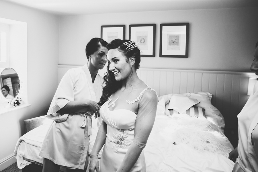 Bridal preparations at St Brides Spa Hotel in West Wales