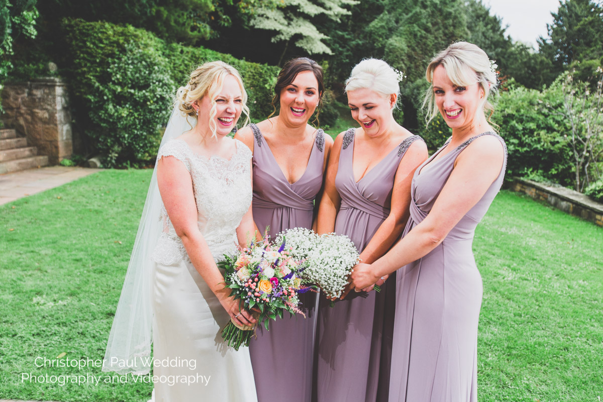 The bridesmaids are letting their hair down!