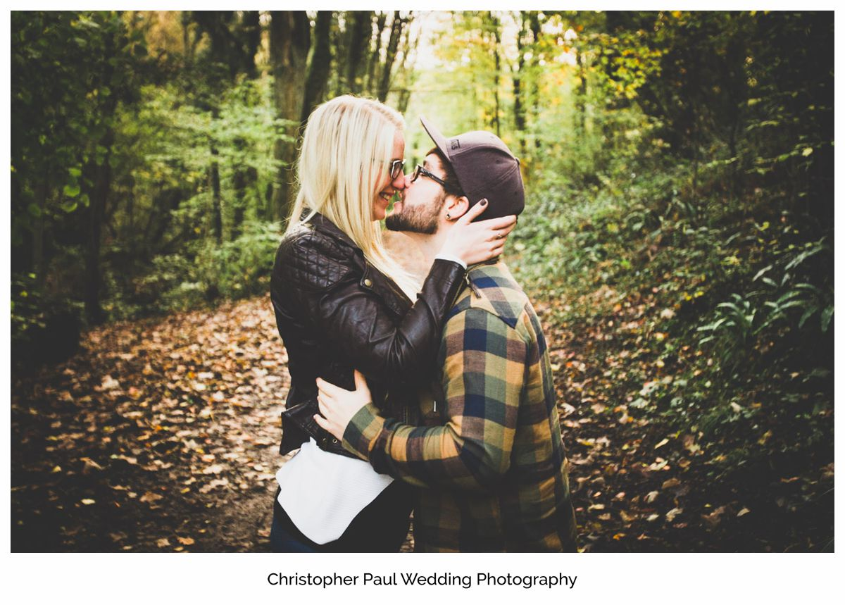 The two lovers embrace each other with a passionate kiss South Wales Wedding Photographers