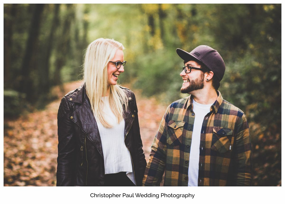 Pre wedding excitment in the woods South Wales Wedding Photographers