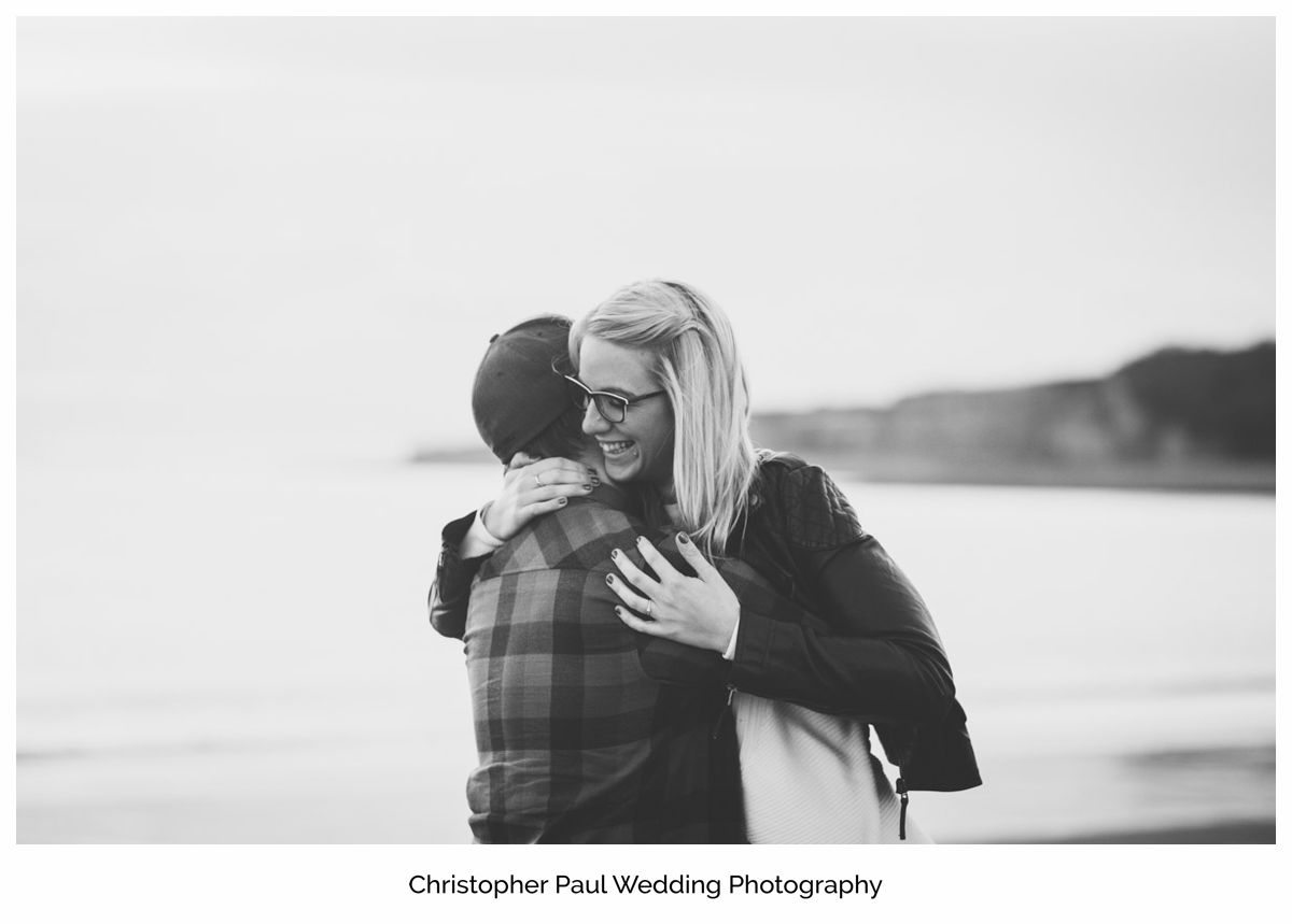 Big smiles and laughter thinking about big wedding plans at Canada Lake and Lodge South Wales Wedding Photographers