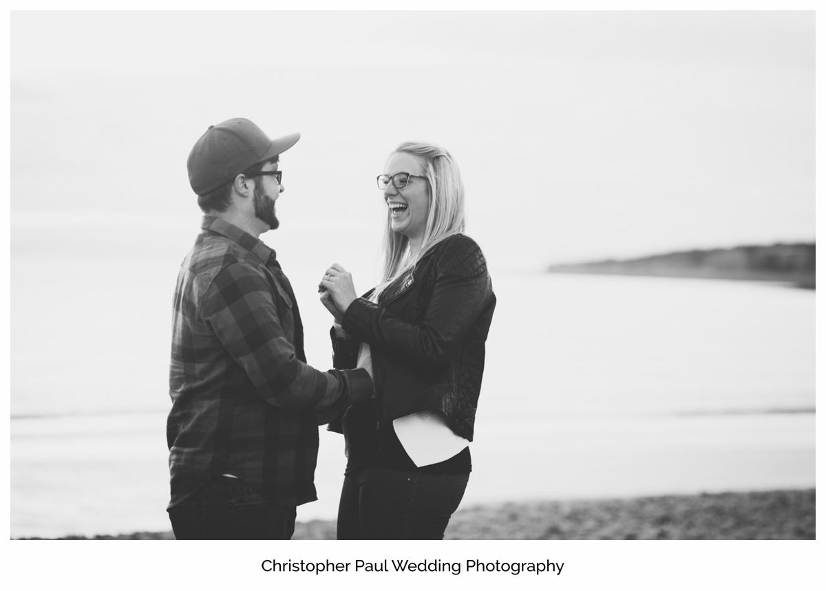 Moody black and white photo of a couple as they are thinking about big wedding plans at Canada Lake and Lodge South Wales Wedding Photographers