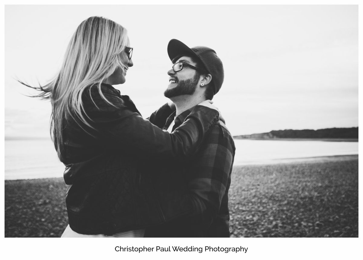 Chloe and Damien after talking about their big Canada Lake and Lodge wedding South Wales Wedding Photographers