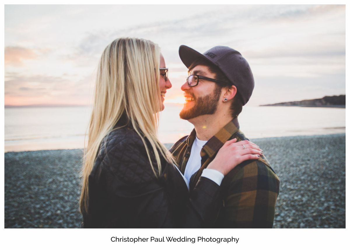 A beautiful engagement photo in Barry, Cardiff Wedding Photographers