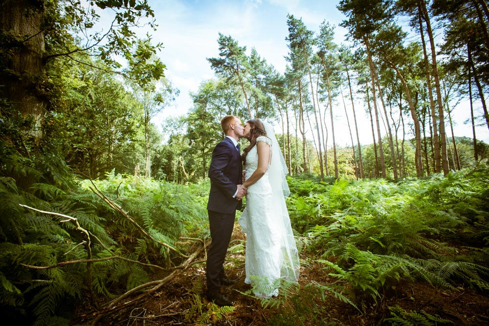 Best South Wales Wedding Photographers | The couple are alone in the woods