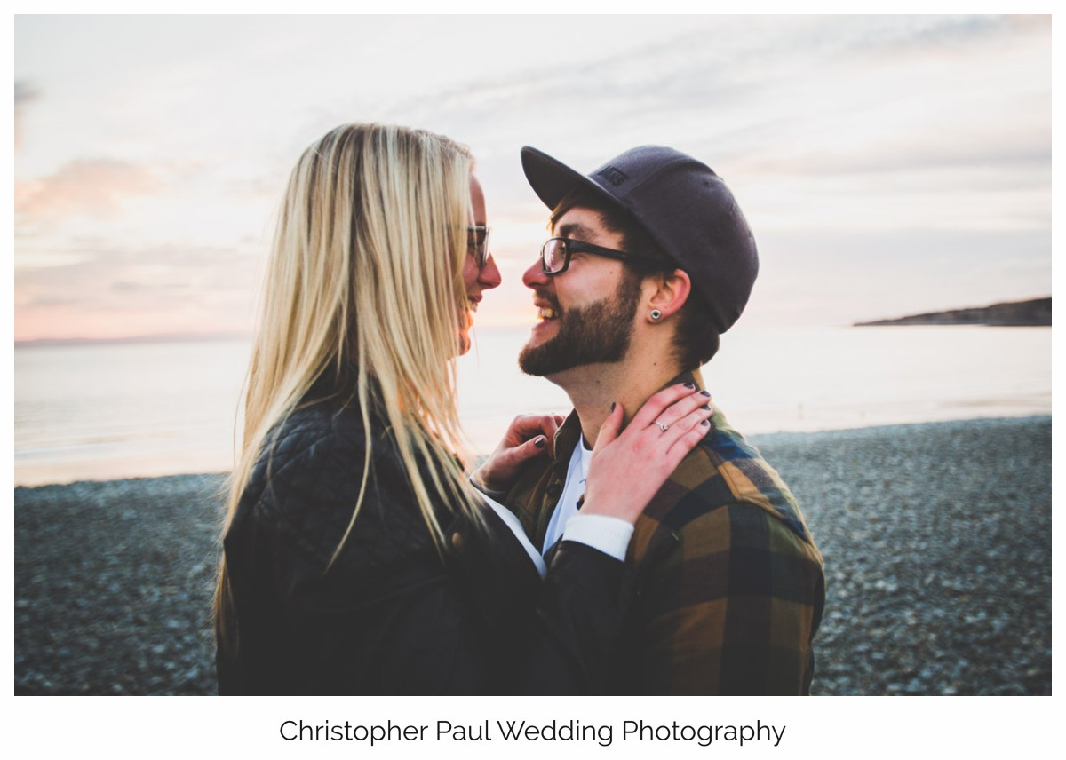 One of the many engagement shoot photos that I need to upload to the gallery. Damien and Chloe were great, we chased the sunset down over 'The Knap' beach in Barry, South Wales.