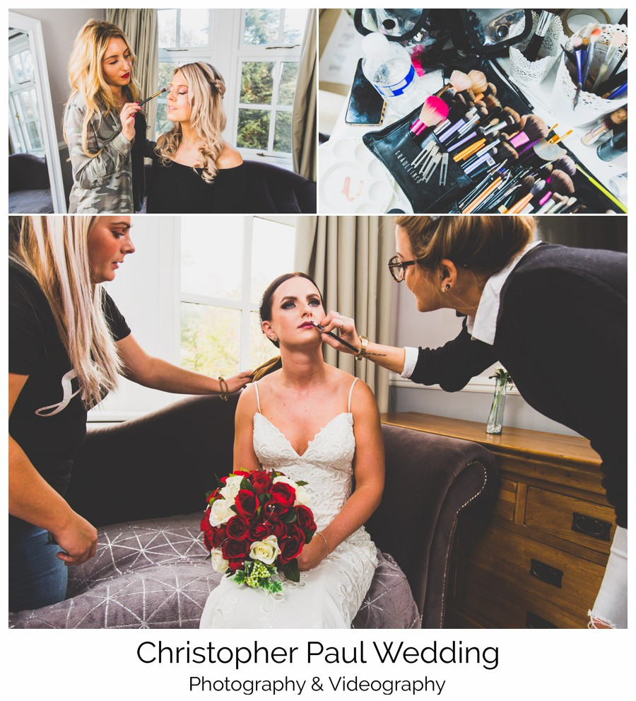 Some behind the scenes work getting the bridal make up perfect
