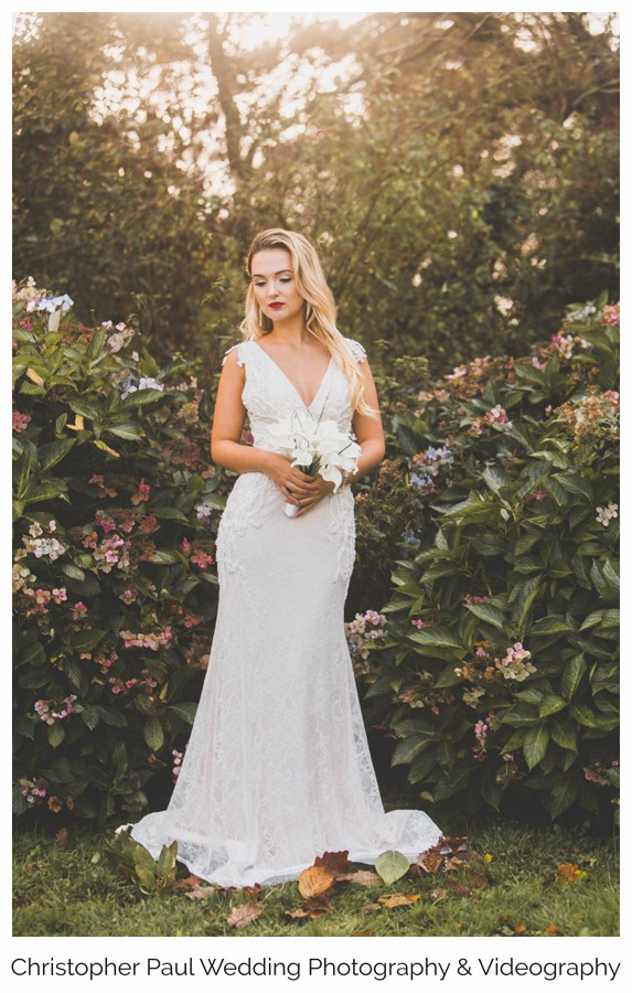 The sun is shining through and making the dress look amazing, from  Perfection Bridal Cardiff