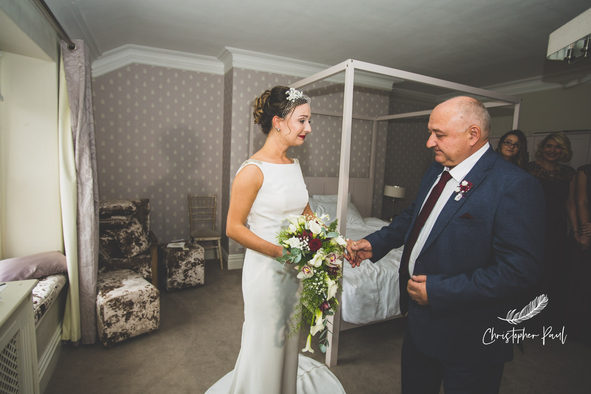 Court Colman wedding photos - First look for dad