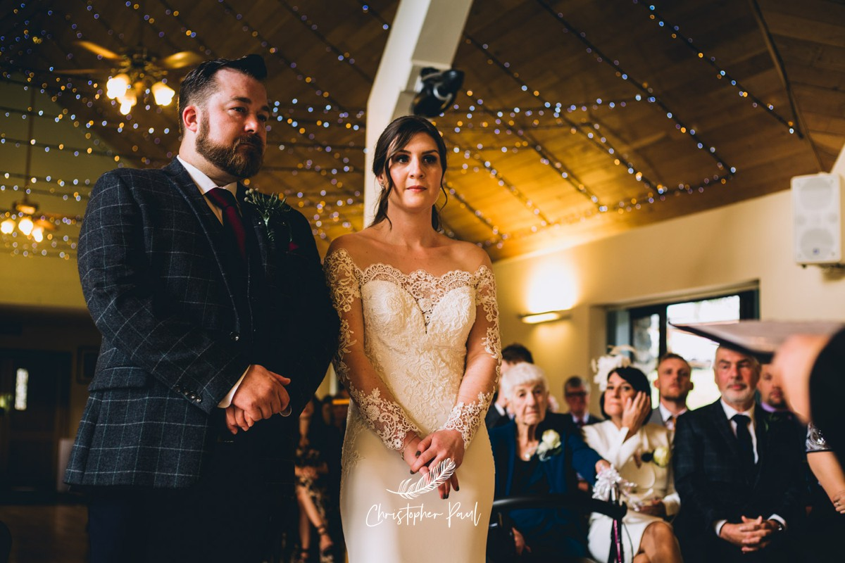 The Bride and Groom at their Canada Lake and Lodge Wedding Ceremony