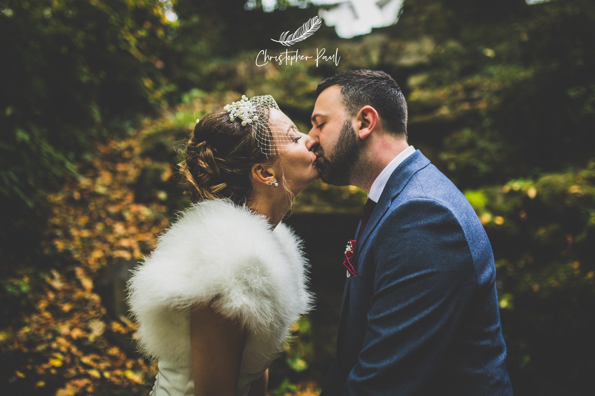 Yani and Dean had an awesome winter wedding at Court Coleman look at that dress !