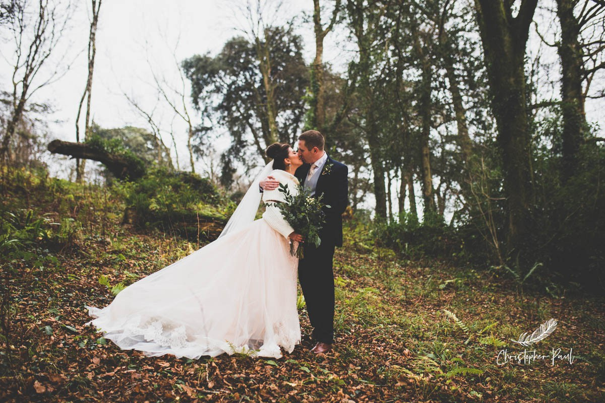 More beautiful grounds at Fairy Hill perfect for bride and groom portraits