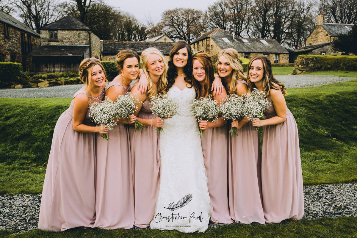 Trevenna also has amazing grounds for all shots with the bridesmaids and family