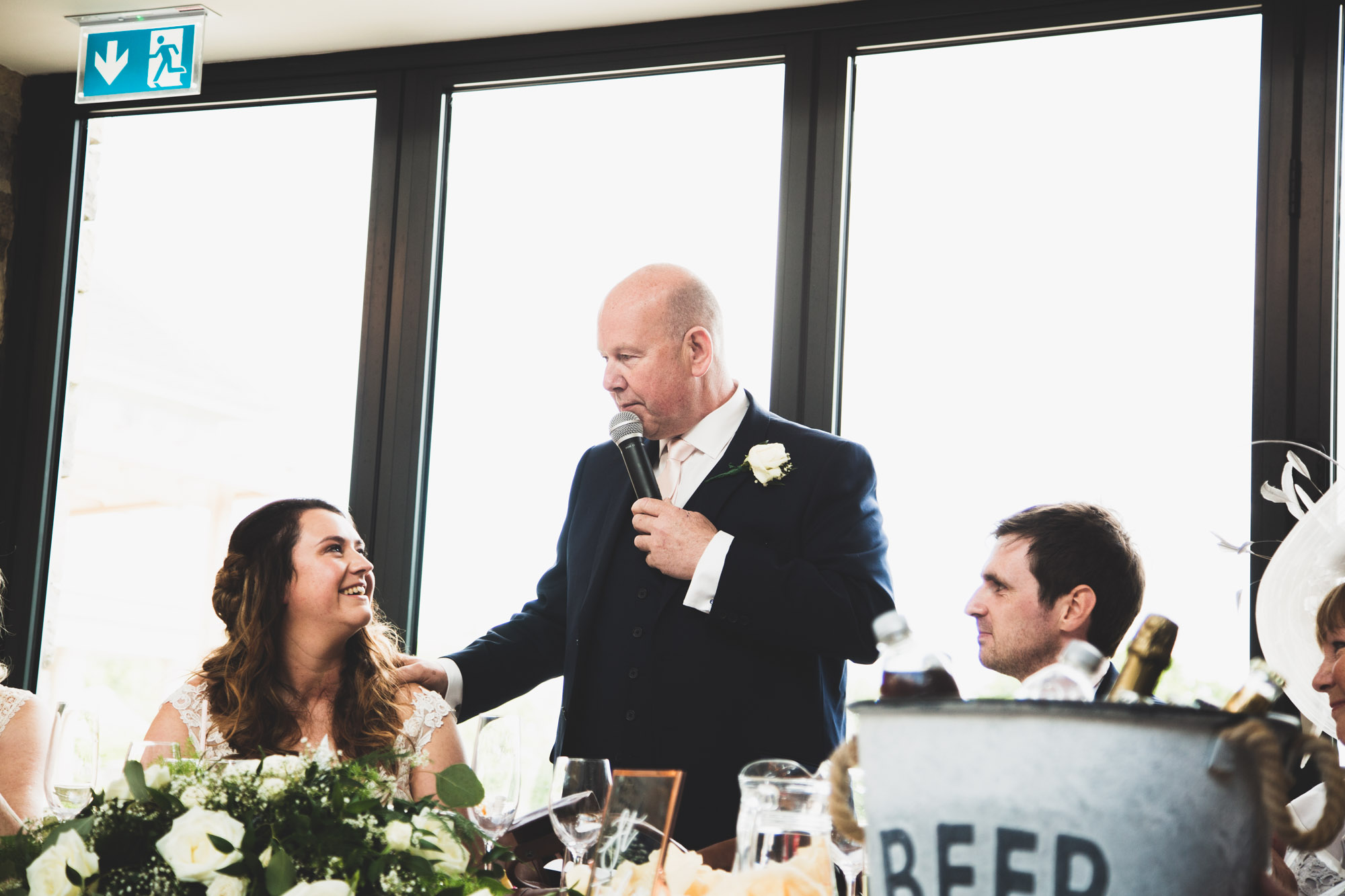 Father of the Bride giving his speech