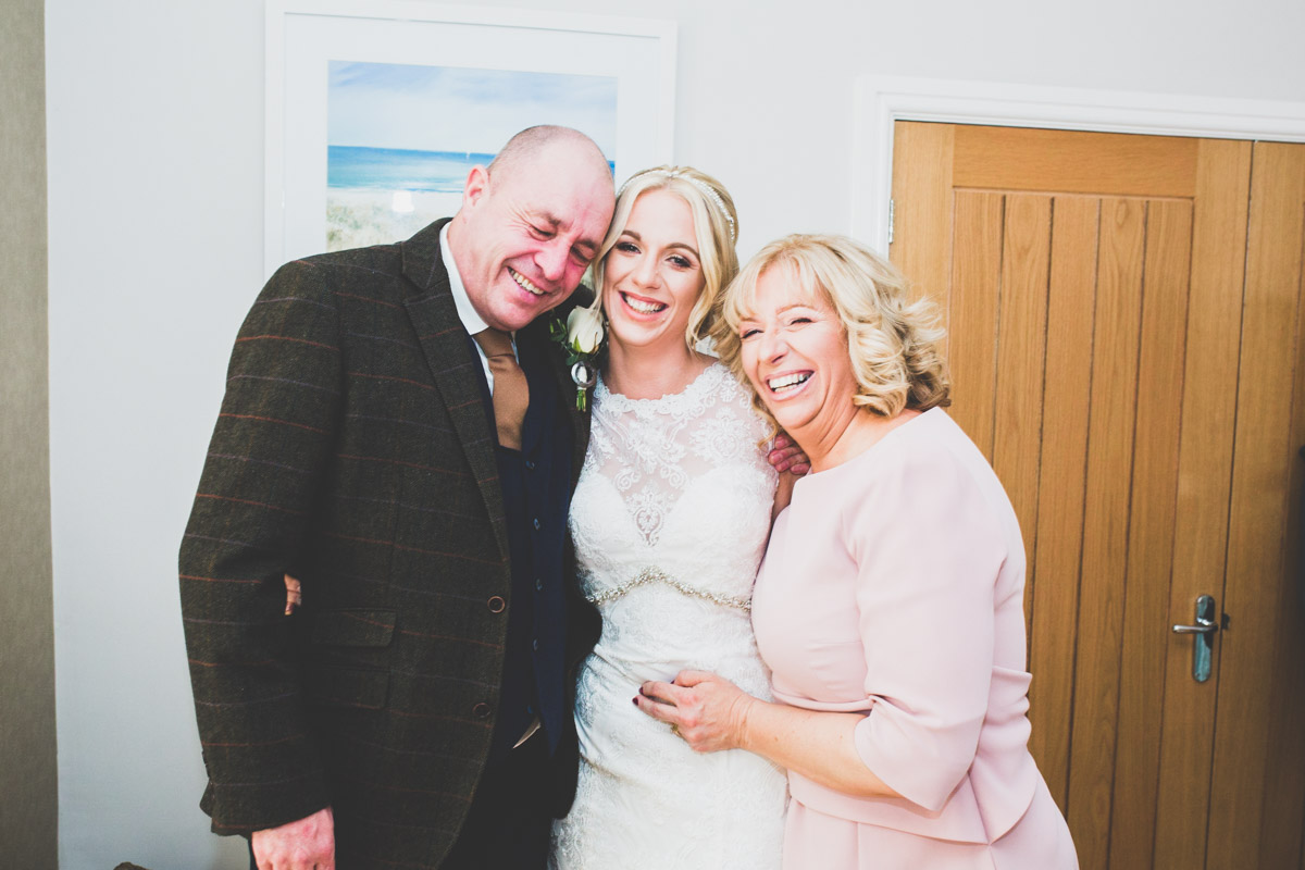 welsh Bride with mum and dad