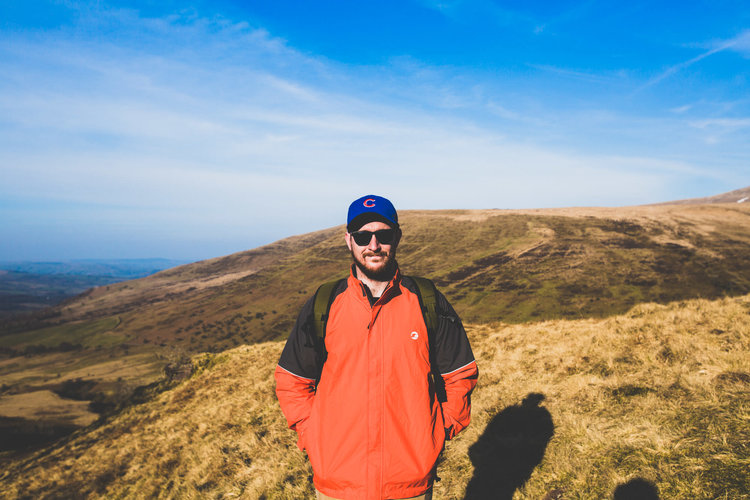 This is me half way up  Pen y Fan in the Brecon Beacons . Such a beautiful spot and luckily it's super close to Cardiff near where we live. There are so many beautiful locations to explore for us wedding photographers in south wales, I feel spoiled