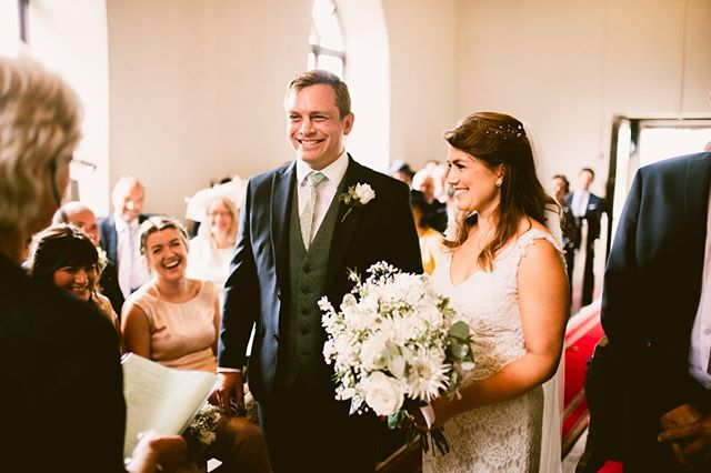 When Sarah walked down the aisle to see Sam waiting their waiting for her. They both had a massive smiles on their face as the golden light filtered through the beautiful ancient welsh chapel. It was one perfect moment from a perfect day filled with joy. I feel really lucky that I get to capture moments like this and hang out with amazing people 🤟❤️ . . #junebugweddings #stylemepretty #belovedstories #authenticlovemag #greenweddingshoes  #cardiffweddingphotographer #bride #groom #happilyengaged #loveandwildhearts #Prettylittlethings