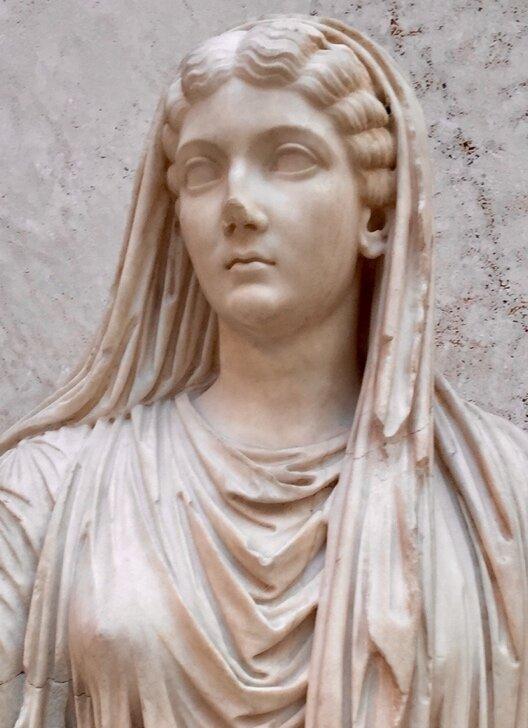 Livia, sculpture from Roman Spain,  first century Museo Arqueólogica Nacional, Madrid. Photo: Christopher R. Hutson