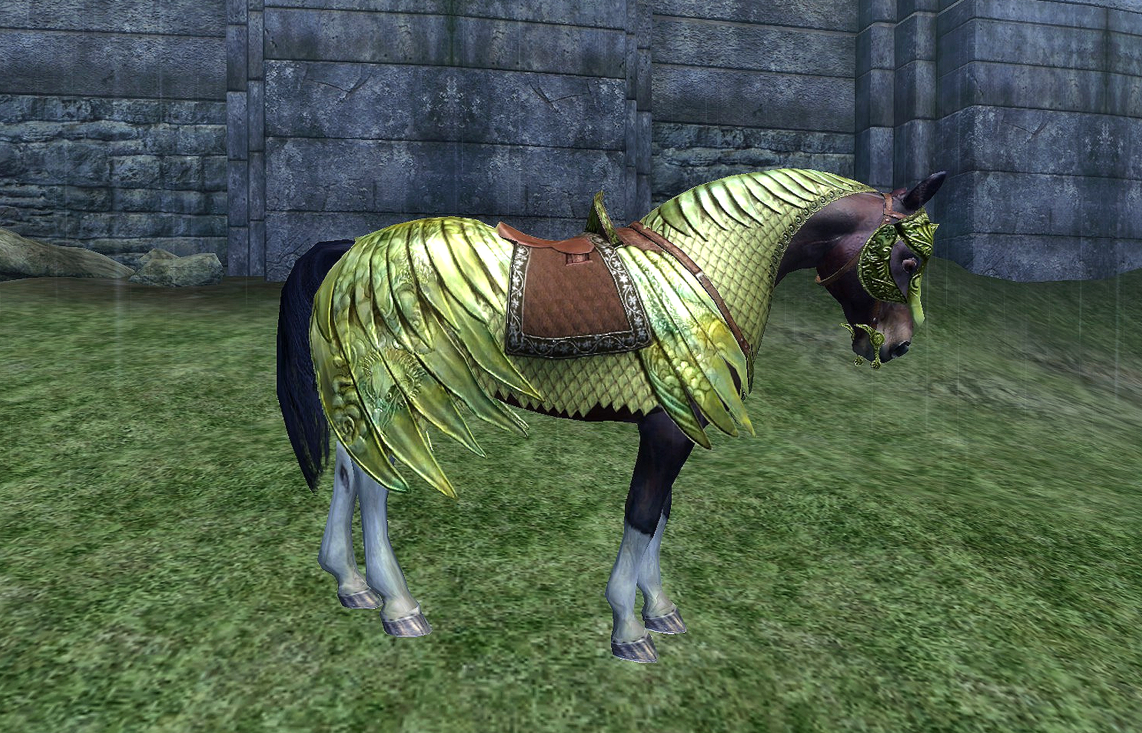 Oblivion's horse armor in all its glory.